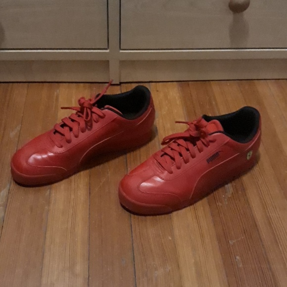 Puma Shoes | Red Sneakers With Ferrari